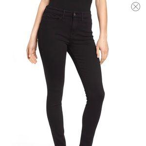 Good American Black High Rise Crop Good Legs 14/32